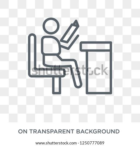 self-learning icon. Trendy flat vector self-learning icon on transparent background from E-learning and education collection. High quality filled self-learning symbol use for web and mobile