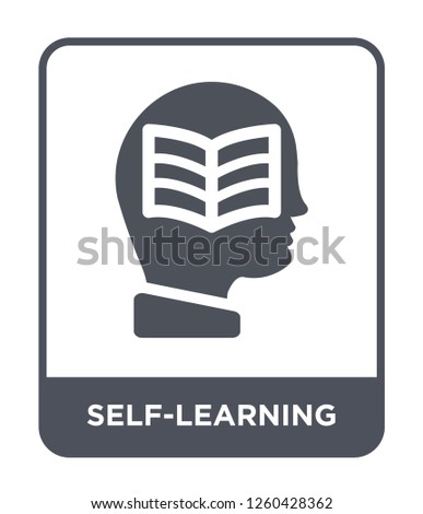 self-learning icon vector on white background, self-learning trendy filled icons from Elearning and education collection, self-learning simple element illustration