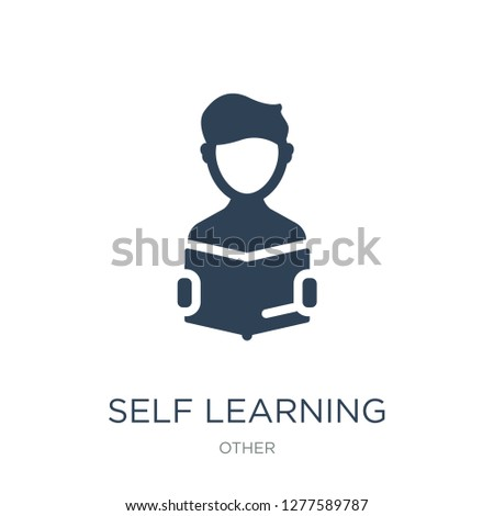 self learning icon vector on white background, self learning trendy filled icons from Other collection, self learning vector illustration