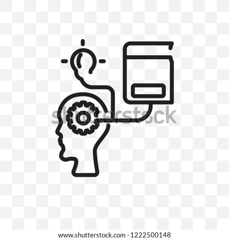 self-learning vector linear icon isolated on transparent background, self-learning transparency concept can be used for web and mobile
