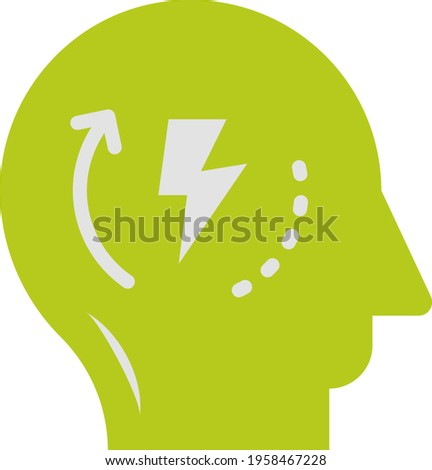Self Starter Concept, Human Brain Head and Twisted Arrow Vector Icon Design, Business Plan Accomplishment Symbol on White Background, Measurable Objectives Sign, Goal and Motivation Stock illustartion Foto stock ©
