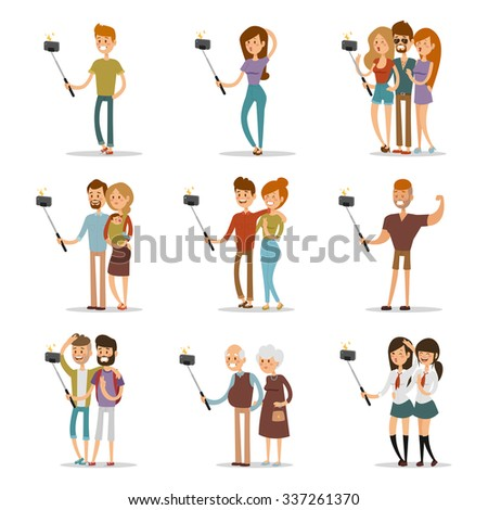 selfie shots family and couples