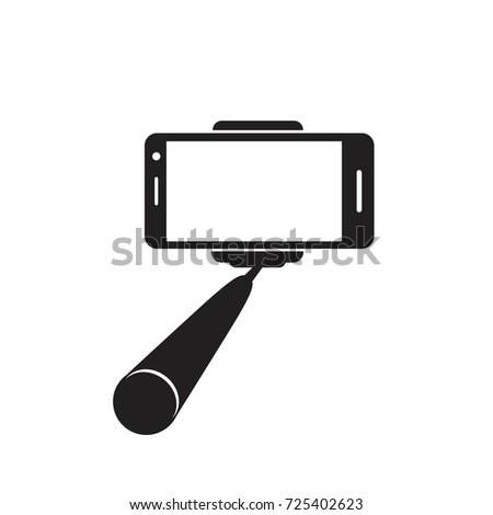 Selfie stick icon. Vector concept illustration for design.
