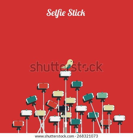 Selfie stick illustration