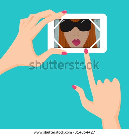 selfie vector illustration