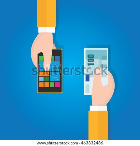 sell buying used mobile phone smart gadget price with hand holding money