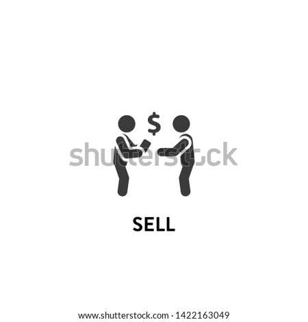 sell icon vector. sell vector graphic illustration