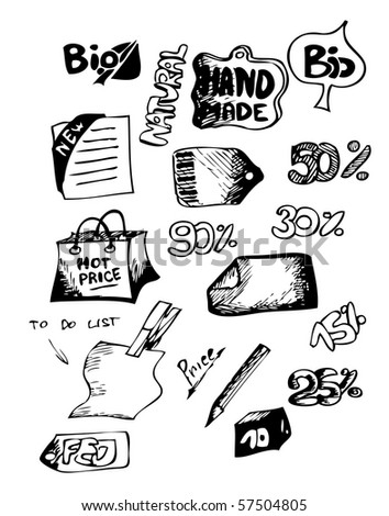 sell icons (hand drawn)