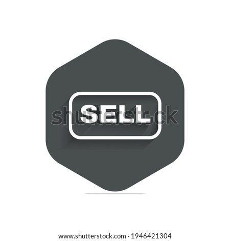 Sell sign icon contributor button vector image with white background Stock photo ©