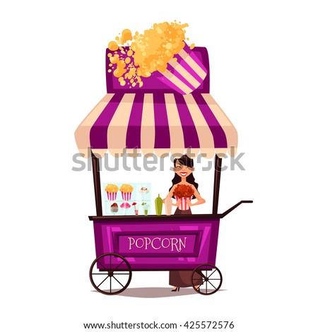 selling popcorn on the street