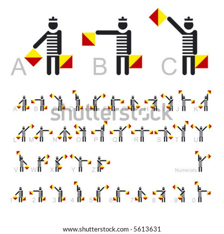 Semaphore flags. Simple vector.