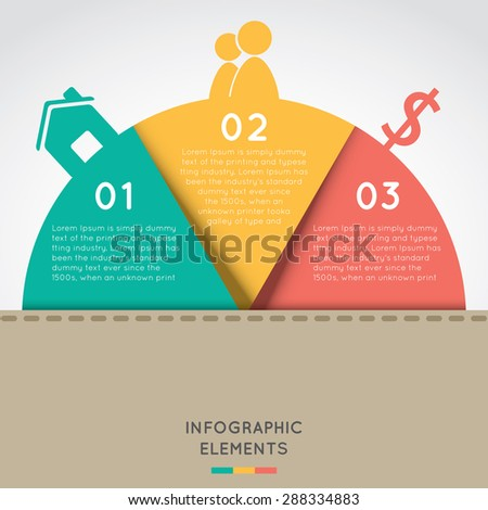 semicircle infographic elements