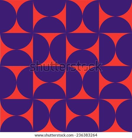 Semicircles retro pattern