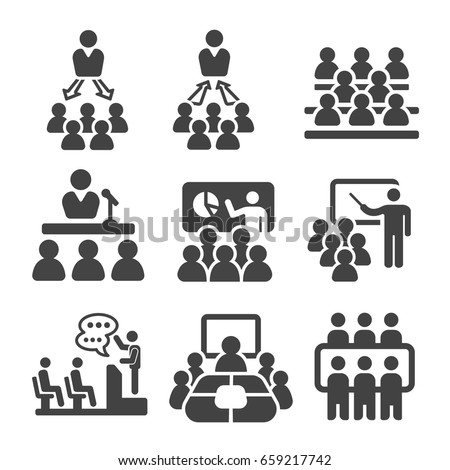 seminar,teaching,meeting icon set