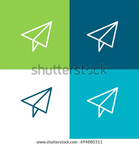 Send green and blue material color minimal icon or logo design