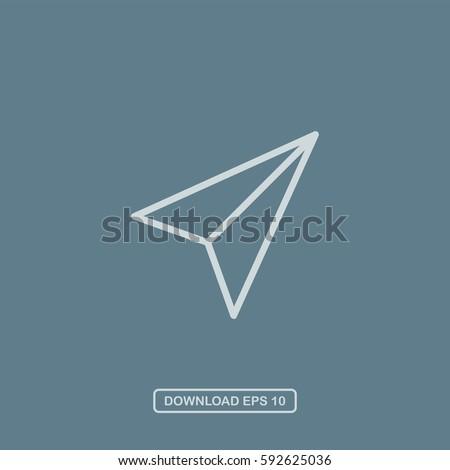 Send icon vector
