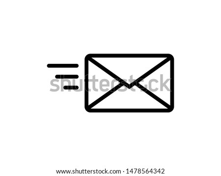 Send letter, Envelope, Message email, Vector icon Zdjęcia stock ©