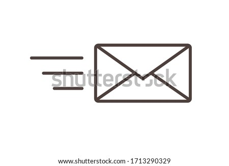Send letter, Envelope, Message email, Vector icon. Flat design style Photo stock ©