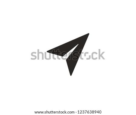 Send message icon, paper plane icon sign symbol