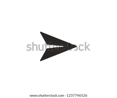 Send message icon, paper plane icon sign symbol