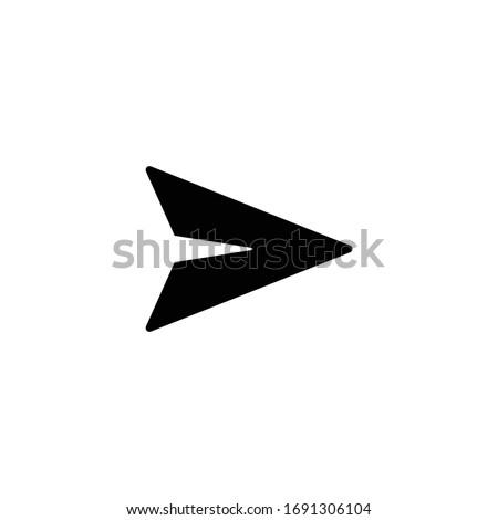 Send message icon vector, paper plane icon, Sign and Symbol Design Photo stock ©