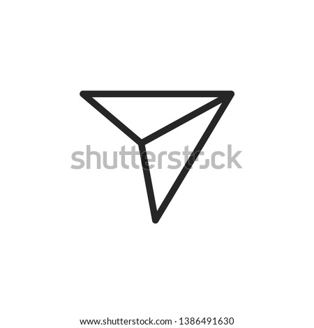 Send Social Media Icon Isolated On White Background. Direct Symbol Modern Simple Vector For Web Site Or Mobile App Stock photo ©