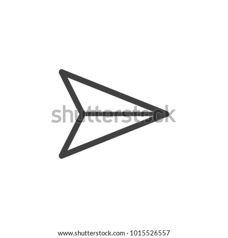 Send vector minimal single flat icon. Plane line vector icon