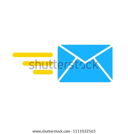 sending mail or message icon, envelope illustration - vector mail symbol, send letter isolated