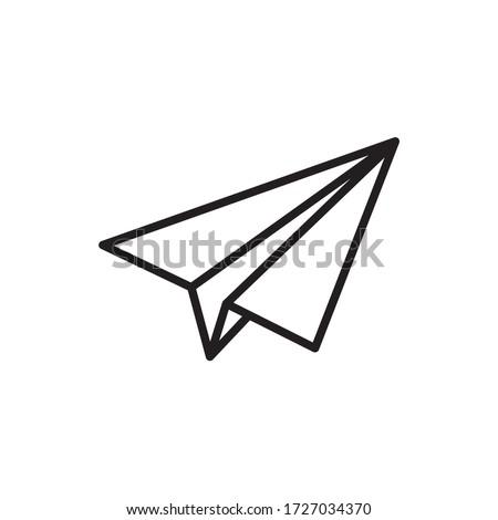 sending message icon, paper plane sign