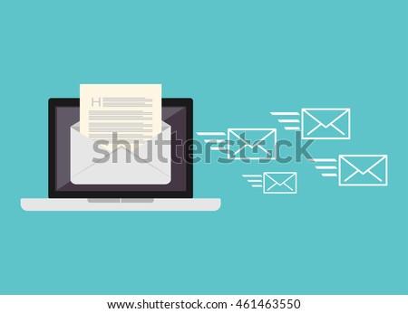 Shutterstock Sending messages. Sending email.