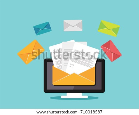 Sending or receiving email concept illustration. Email marketing. Email illustration.