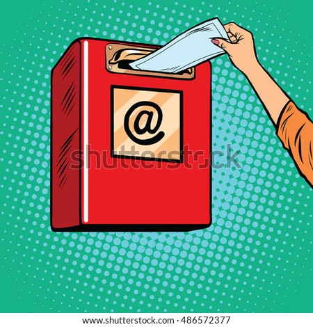 sending paper letters inbox pop