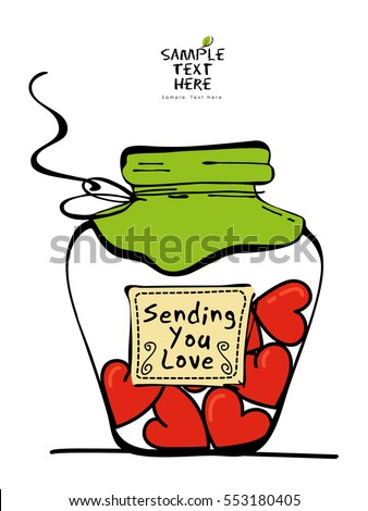 sending you love design   jar