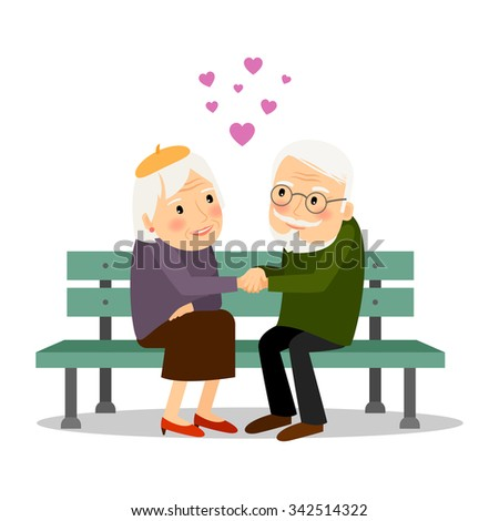 senior couple in love elderly