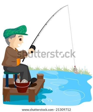 Senior fishing vector 21309712 shutterstock for Senior fishing license
