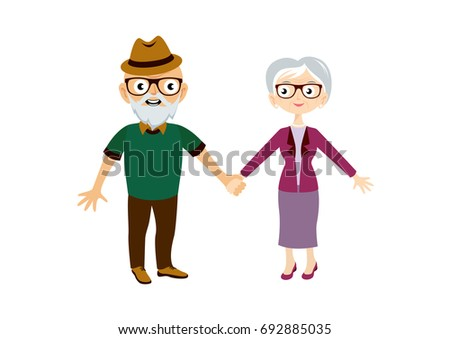 seniors vector elderly cartoon