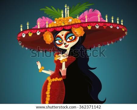 senorita in day of the dead