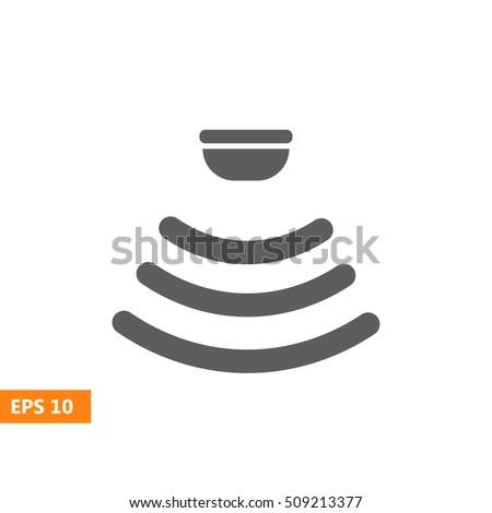 Sensor waves signal icon