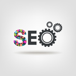 SEO abstract icon cogs gear