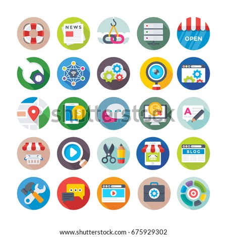 Seo and Digital Marketing Vector Icons 2