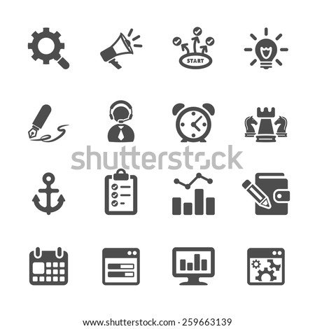 seo and internet marketing icon set 2, vector eps10.