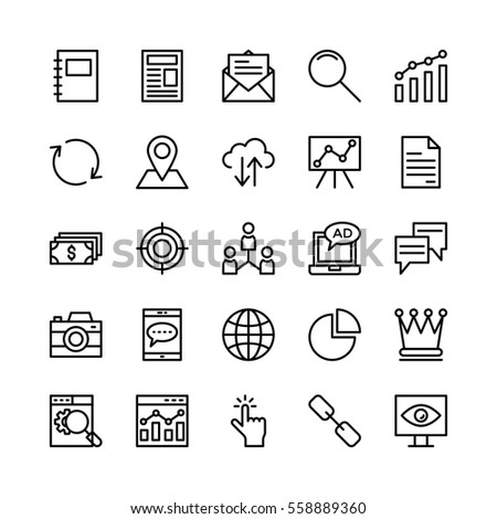 Seo and Marketing Vector Icons 4