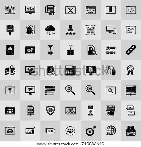 seo and online marketing icons set