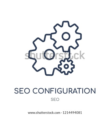 Seo Configuration icon. Seo Configuration linear symbol design from SEO collection. Simple outline element vector illustration on white background.