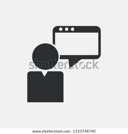 SEO consultant vector icon with notes