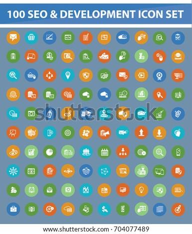 SEO development icon set,vector #704077489