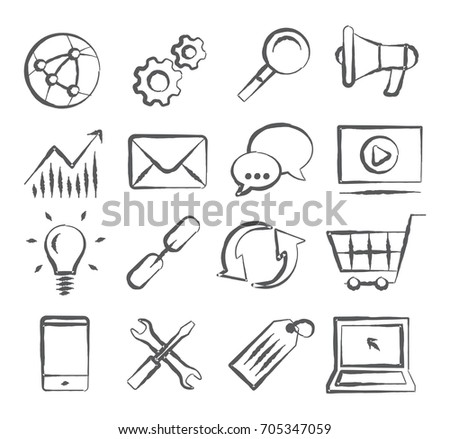 SEO Doodle Icons