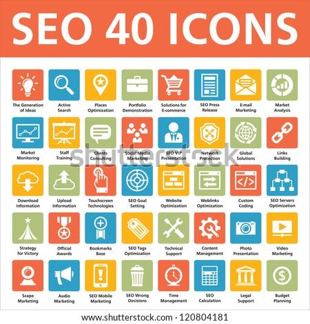 40 iconos de SEO