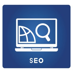 seo icons, searching optimization process