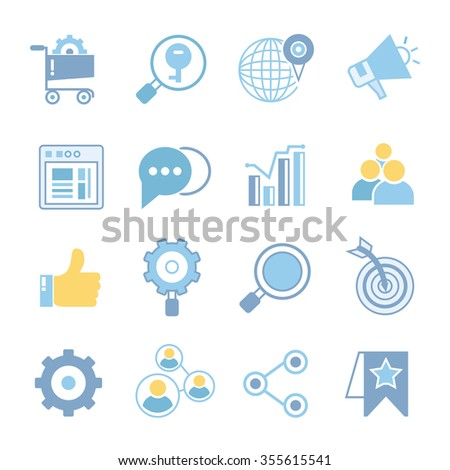 seo icons, social media icons, social network